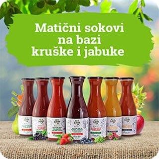 Matični sokovi na bazi kruške i jabuke